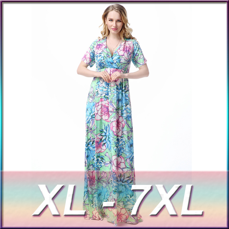 Online Buy Wholesale plus size 2016 maxi dress floral dress long ...