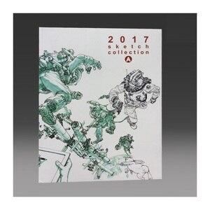 كيم جونغ غي يعمل 2017 رسم جمع كتاب كيم JungGi رسم مخطوطة خط دفتر رسم حجم