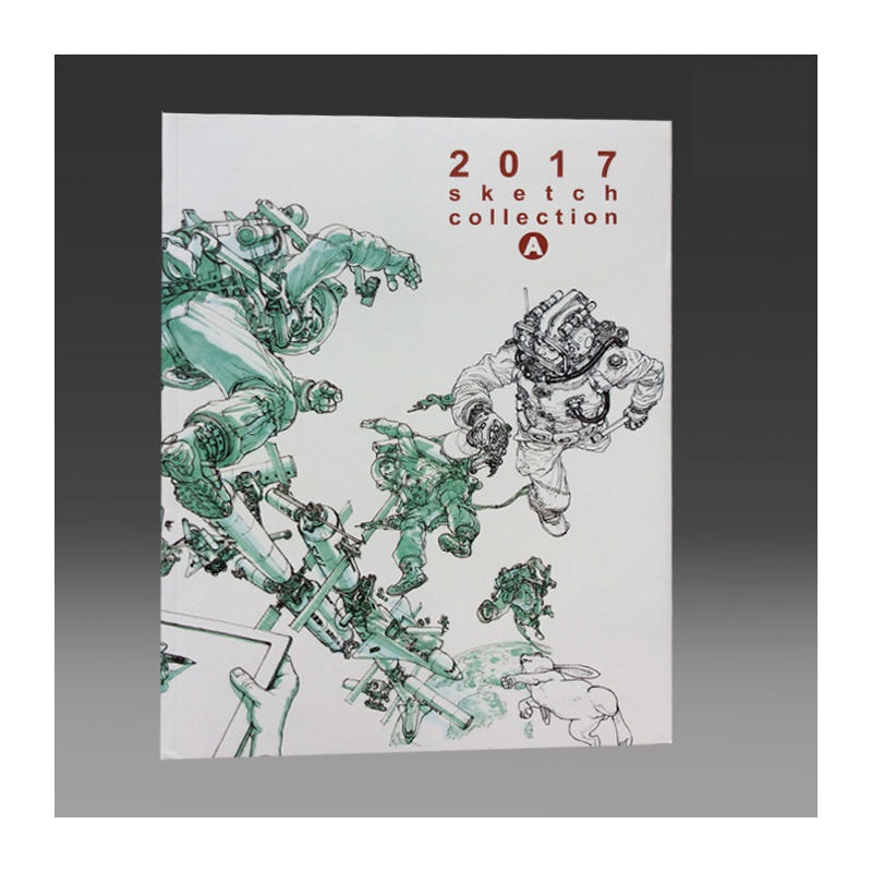 Kim Jung-Gi Works 2017 Sketch Collection Book Kim JungGi Sketch Manuscript Line Drawing Book Volume A