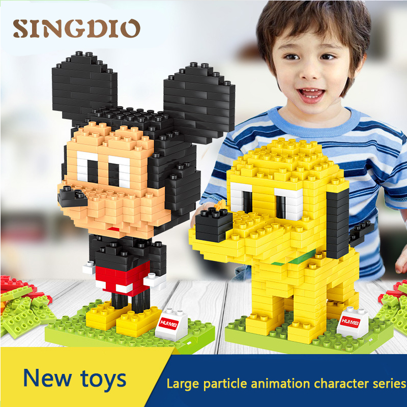 animation Quality Big Building Blocks Self-locking Bricks Educational Toys for Children Gift Compatible with all brand kids toys цены онлайн