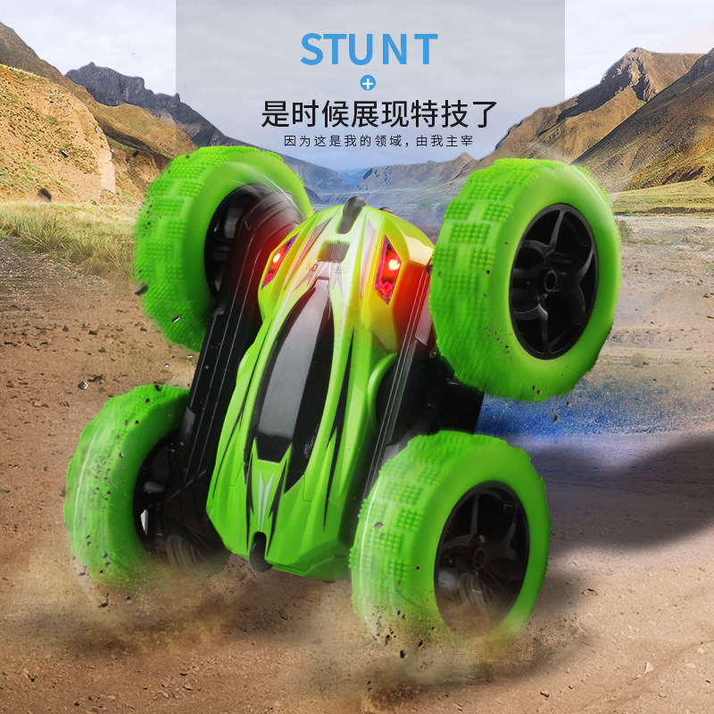 Image 4 - Remote Control Stunt Car Double Tumbles Somersault Stunt 2.4 Rechargeable Remote Control Car Children's Toy Out Floor Boy Toy-in RC Cars from Toys & Hobbies