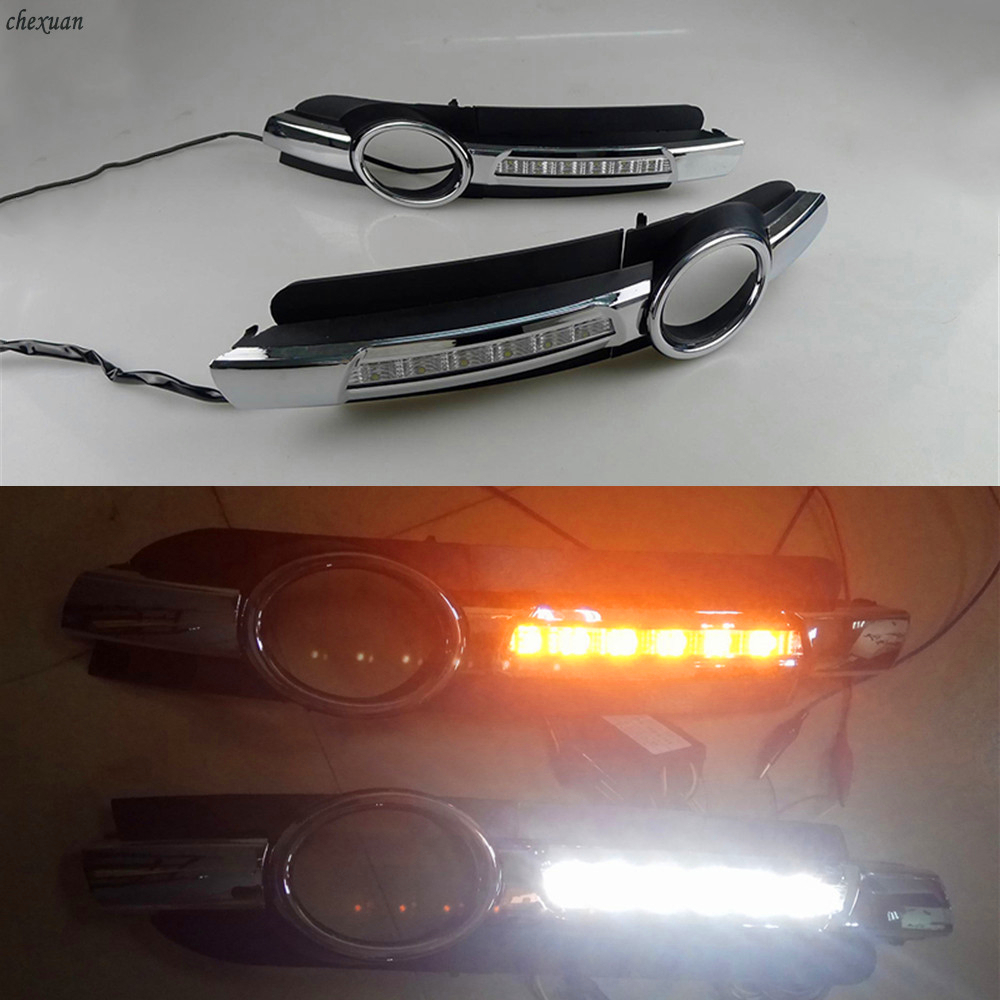 CSCSNL 1 Pair For AUDI A6 C6 2005 2006 2007 2008 LED DRL Daytime Running Lights