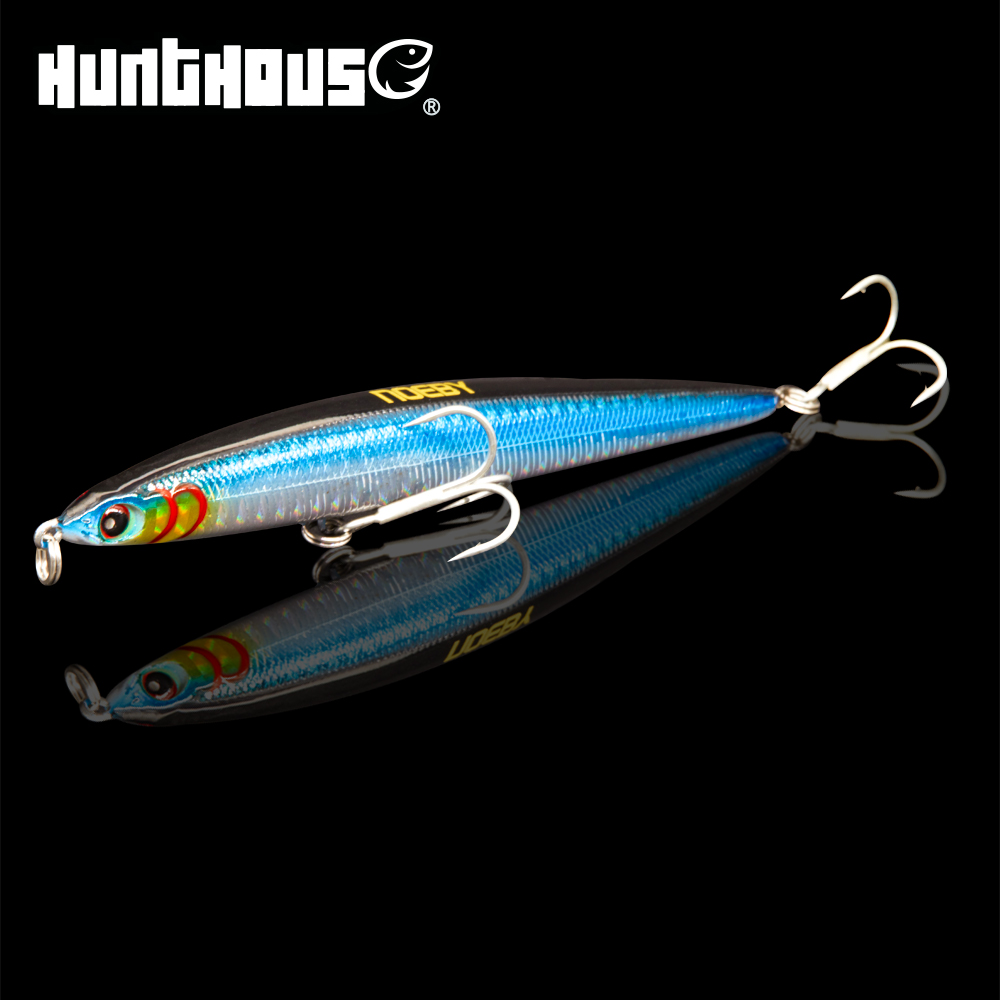 Noeby 2018 newest lure sinking pencil bait long casting fishing lure artificial wobbler 125mm 21.5g BKK hook 3D eyes stickbait free shipping saury fish sinking pencil long shot fishing lure 75mm 80mm 85mm