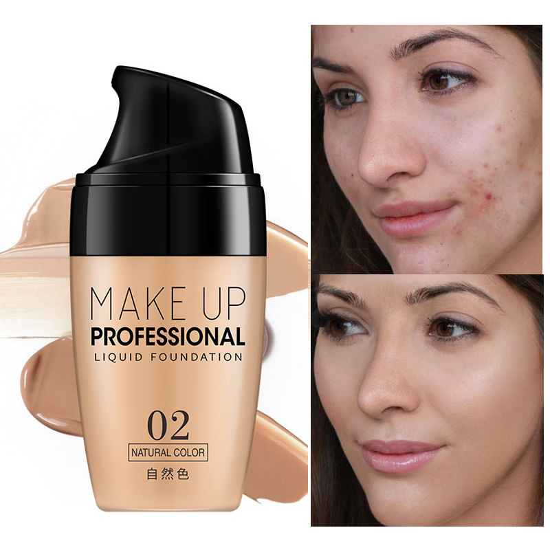 Face Make Up Liquid Foundation Cream Oil-control Easy To Wear Whitening Concealer Full Coverage Matte Base Facial Makeup image