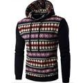 2017Hoodies Mens Hombre Hip Hop Male Brand Hoodie Geometric Pattern Printing Sweatshirt Suit Men Color Slim Fit Men Hoody
