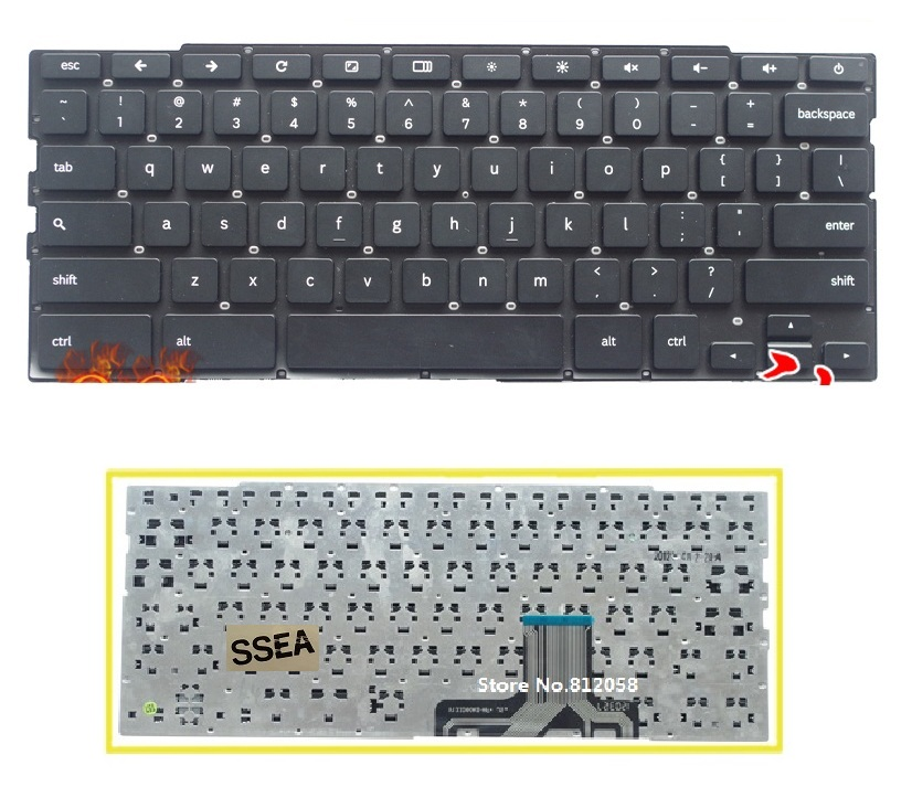 SSEA New US keyboard without frame for Samsung XE550C22 XE550C22-A01US Chromebook OS laptop Keyboard
