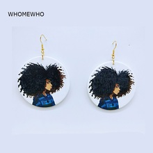 Bohemia Wood Africa Tribal Natural Hair Punk Girl Drop Earrings Vintage Retro Wooden African Hiphop Jewelry Club Accessories New