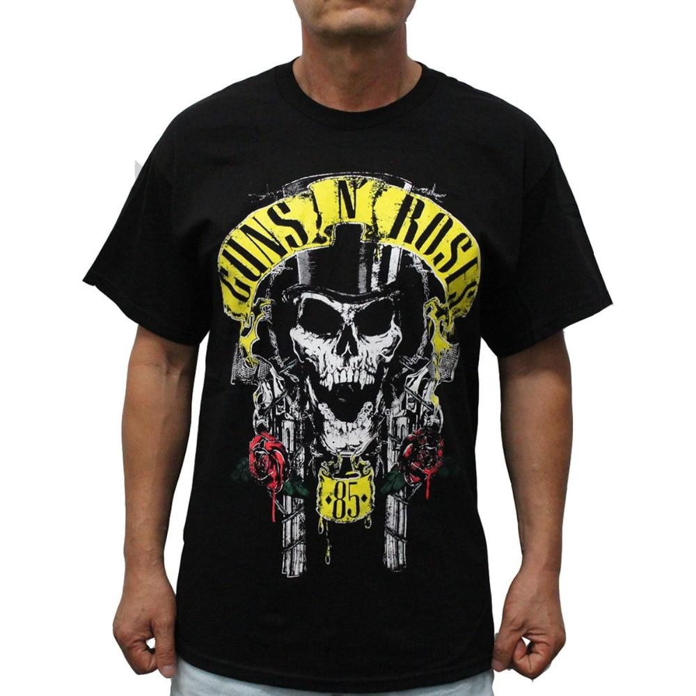 T Shirt Fashion Tops Short Men Graphic Crew Neck Guns N Roses Reunion Of 85 Tour T Shirts