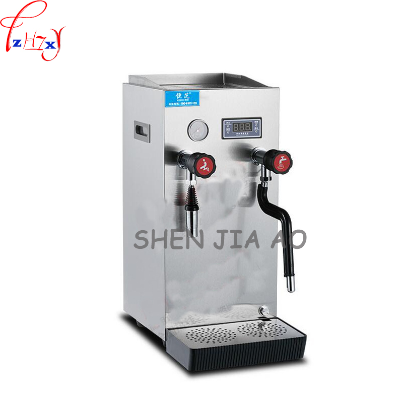 1pc 220V 2200W Commercial stainless steel steam water machine automatic milk tea shop coffee shop steam milk machine stainless steel household milkshake machine single head commercial milk tea shop electric mixer milk bubble machine