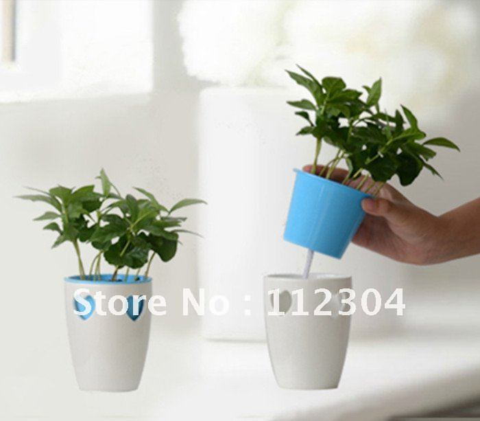 Soil Planting Self Watering Flower Pot In Pots Planters From Home Garden On Aliexpress Alibaba Group