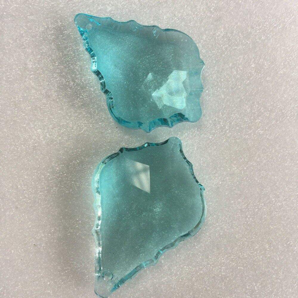 Crystal Maple Leaf Pendants 50mm 20pcs Lt.aquamarine Chandelier Crystal Accessories Home & Wedding DIY Decoration