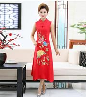 Women's summer dress new dress embroidery national style long section large size