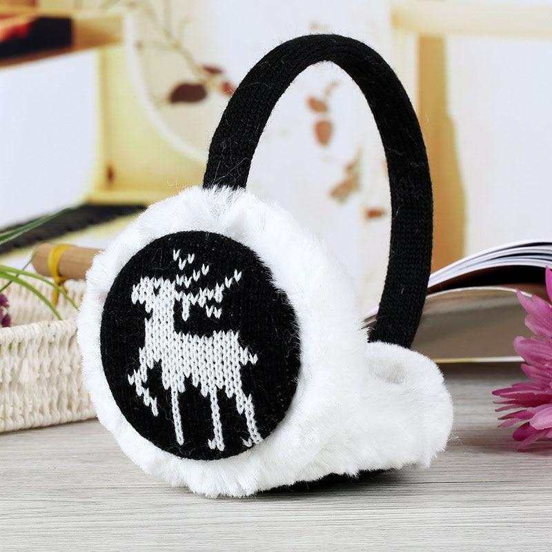 1Pc Women Girls Soft Snowflake Thick Plush Earmuffs Winter Warm Comfort Earmuffs New