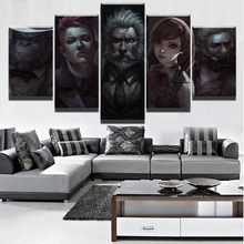 Modular Pictures Home Wall Art Modern Game Poster HD Printed 5 Pieces Canvas Overwatch Role Painting Decorative Framework