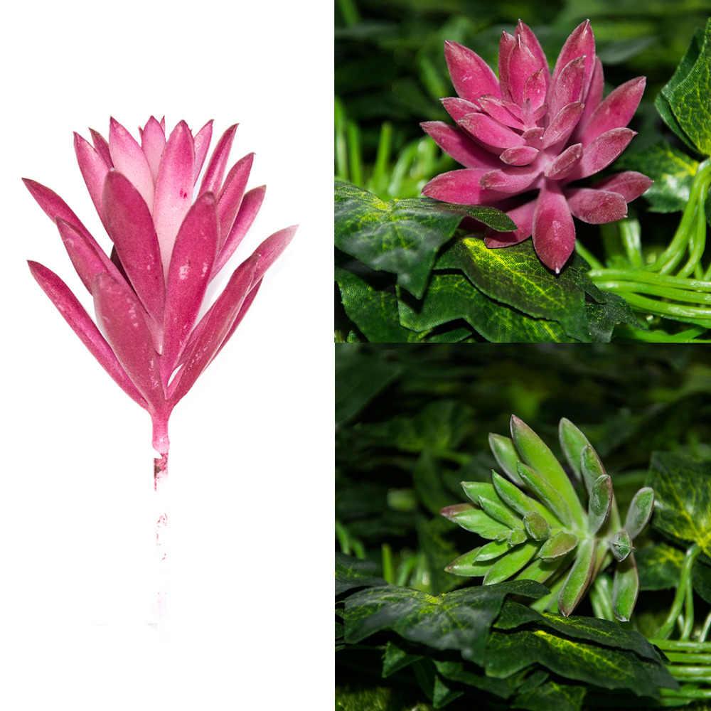 1 adet Kar Tanesi Lotus Bitki Bahçe Etli Çim Çöl Yapay Bitkiler Peyzaj Aranjman Bahçe Sevimli Dekorasyon