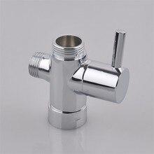 Bidet de baño de latón cromado 3 4   1 2   T-Adaptador de válvula de ducha  de 3 vías de grifo de Ducha 99d940764b7e