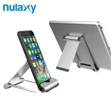 Nulaxy Mobile Phone Holder Adjustable Hinge Foldable Desk Phone Holder Tablet Stand Desktop Holder For iPhone X 8 For Samsung S9