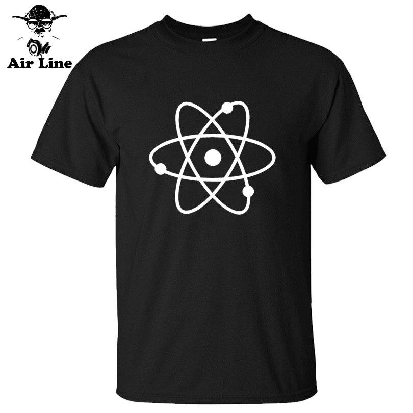 New Fashion Science Atom New Cool Geek Nerd Mens Loose Fit Cotton   T     Shirt   Men Cotton Short Sleeve   T  -  shirt   Top Tees