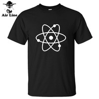 New Fashion Science Atom New Cool Geek Nerd Mens Loose Fit Cotton T Shirt Men Cotton
