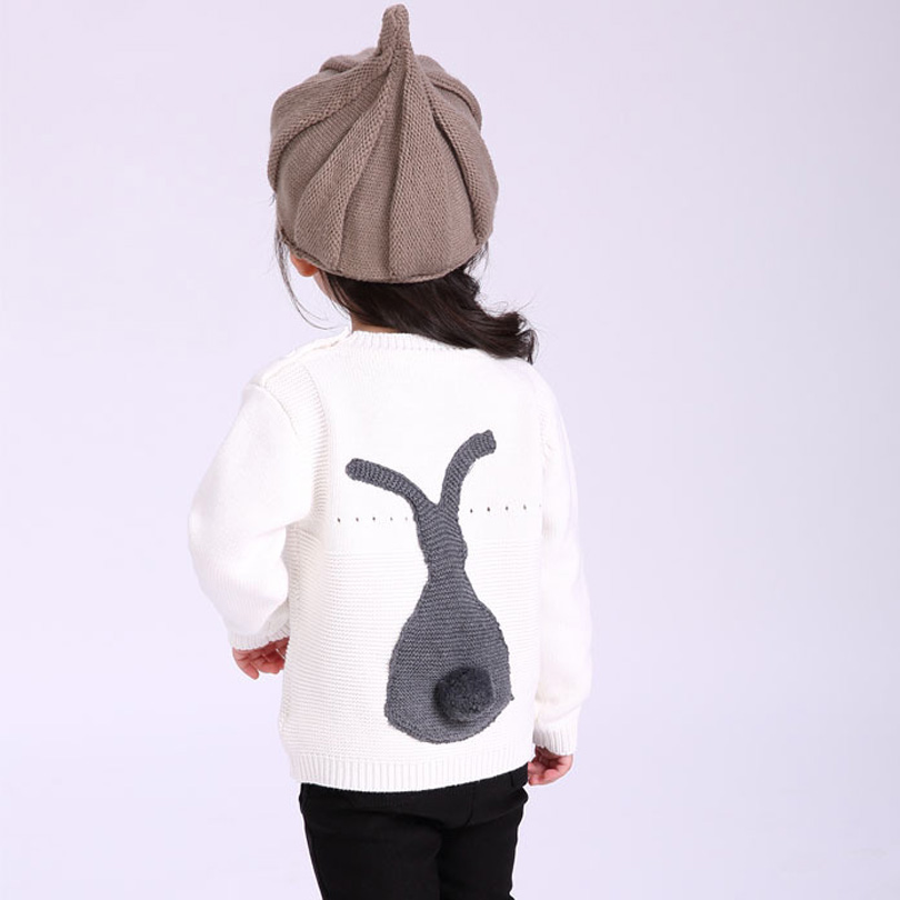 все цены на Children Sweaters New 2018 Spring Autumn Casual Style Baby Girl Boys Sweater Kids Knitted Cartoon Rabbit Sweater Baby Clothing