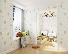 beibehang  Eco-friendly cute classic fashion bear nonwoven papel de parede wall paper boy girl childrens room 3d wallpaper