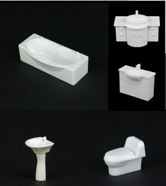 € 10.87 8% de réduction|1:50 modèle de salle de bains, modèle bathtube,  modèle évier modèle toilette dans Modèle Kits De Construction de ...