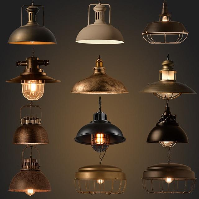 Industrial estilo retro colgante luces vintage l mpara - Iluminacion estilo industrial ...