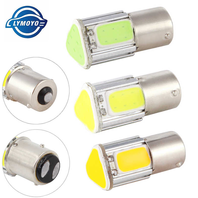 1pcs p21w bay15d ba15s P21/5W  1156 1157 led COB 12v auto Brake light White red car led Bulbs rear Turn signal lamp parking 12v