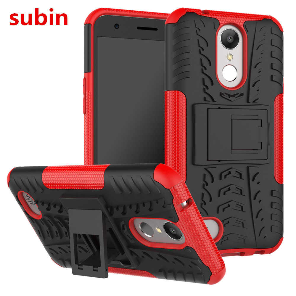 For LG K20 K20V VS501 TPU & PC Dual Armor Capa with Stand Hard Silicone Cover For LG K20 Plus TP260 LV5 Phone Case