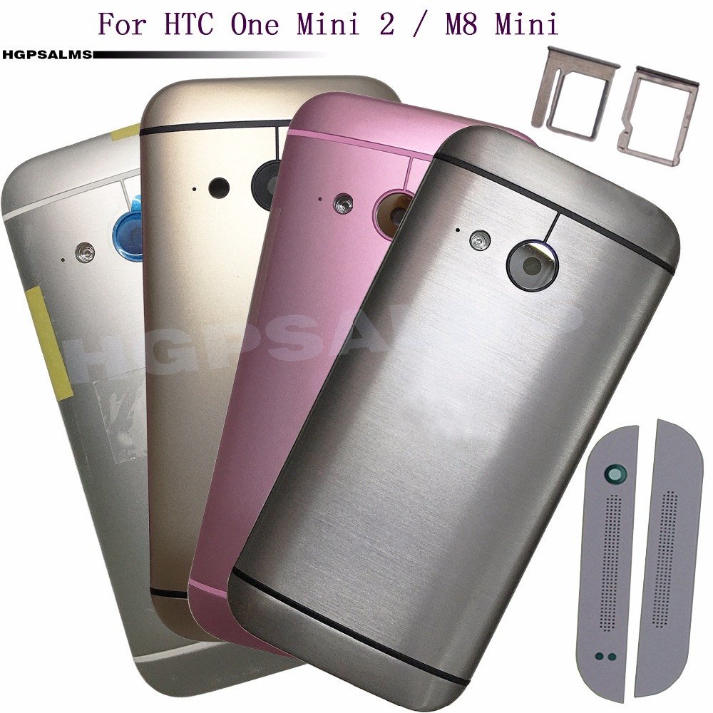 For <font><b>HTC</b></font> One Mini 2 <font><b>M8</b></font> mini Back <font><b>Battery</b></font> Cover Rear Housing <font><b>Case</b></font> Top Sheet Bottom Sheet SIM Card Tray Camera Len+Logo image