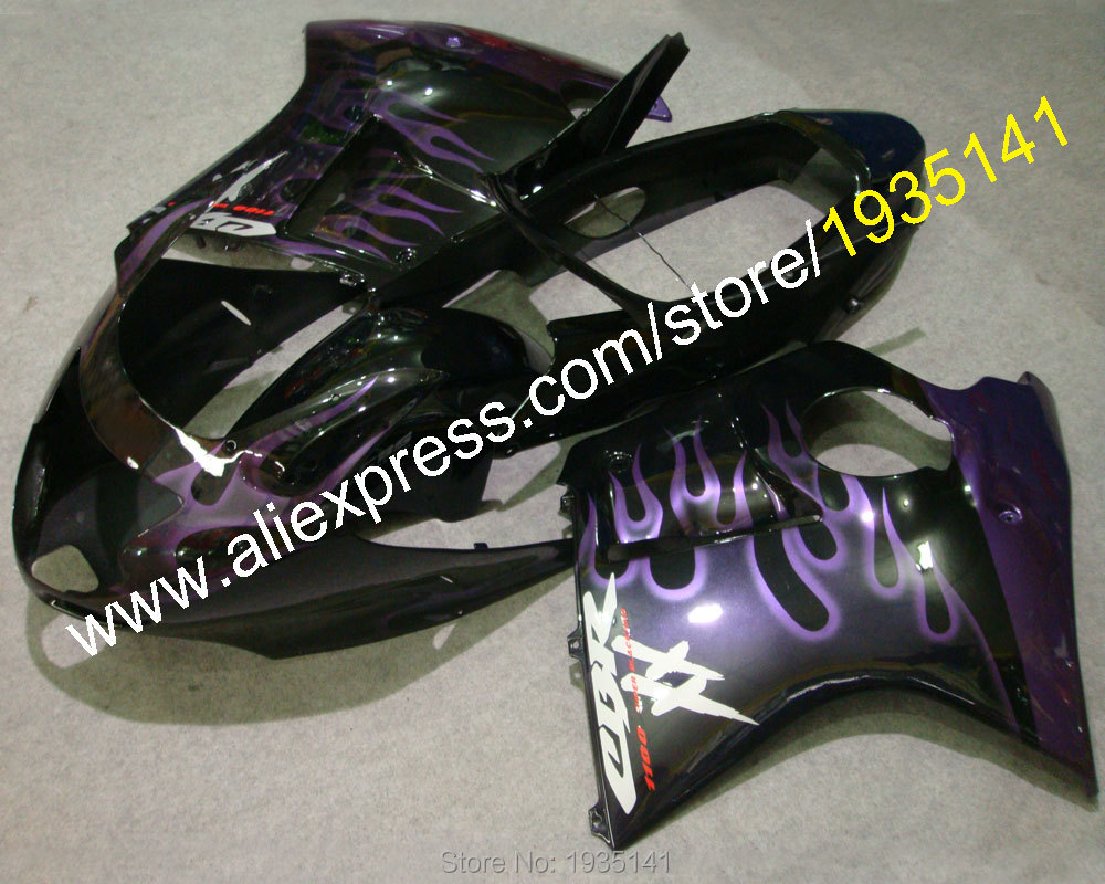 Hot Sales,Purple flame kit For Honda CBR1100XX 96-07 CBR 1100 XX 1996-2007 sport motorbike bodywork Fairing (Injection molding)