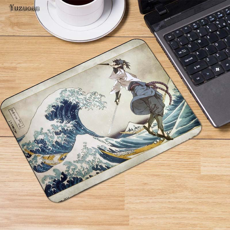 Yuzuoan Naruto Computer Mouse Pad Mousepads Decorate Your Desk Non-Skid Rubber Pad Not Overlock Mouse Pad for Optical Laser