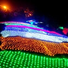 220V 8 10m 1920 LED Net Lights LED fairy light Christmas decoration garden grass X mas