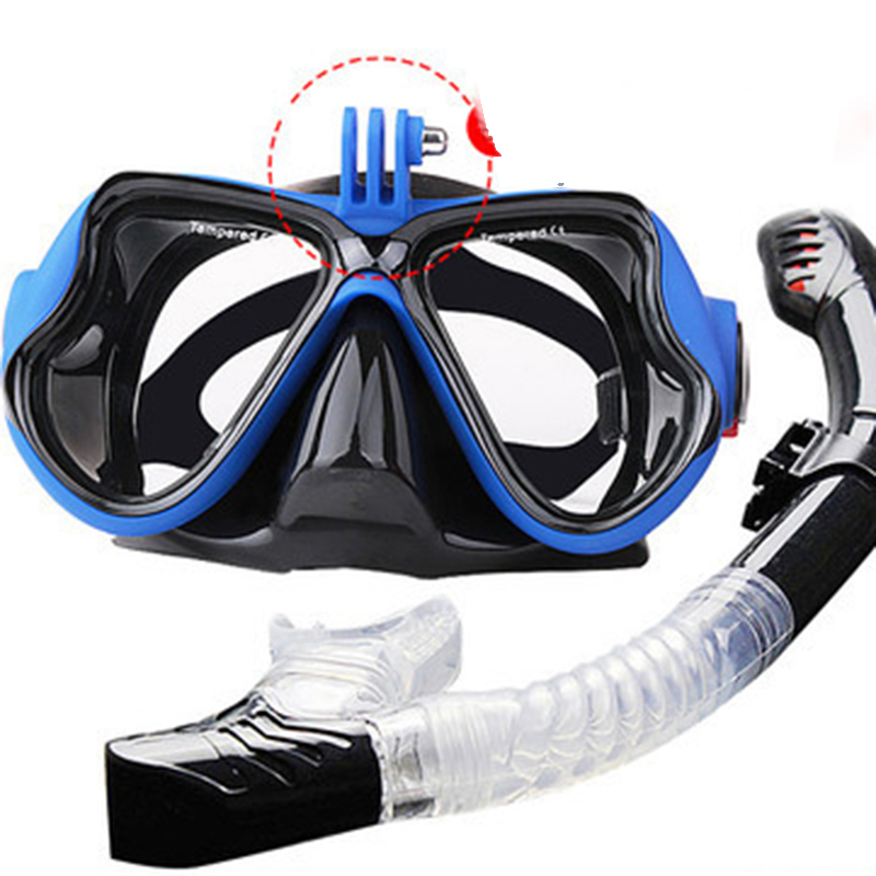 Professional Underwater Mask Camera Diving Mask Swimming Goggles Snorkel Scuba Diving Equipment Camera Holder For Go Pro(China)