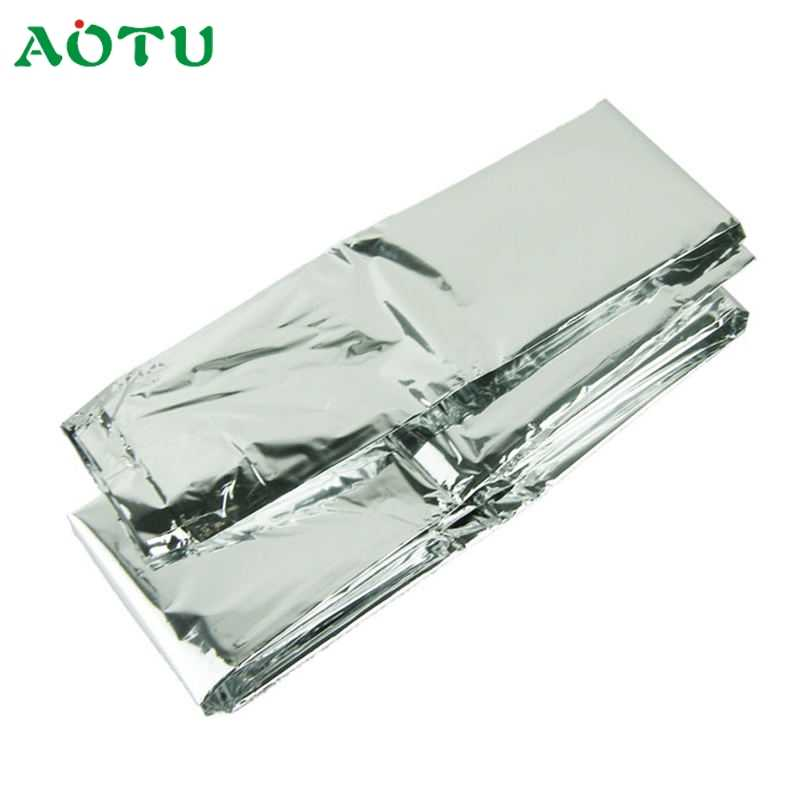 Activing 2017 Silver Thin Emergency Blanket Survival Rescue Curtain Outdoor Life-saving ST27