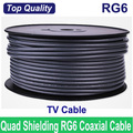 FedEx/EMS Free Shipping,Top Quality & Deluxe RG6 coax coaxial TV cable wire, Wholesales 100FTs(30M)/lots, Best quality!