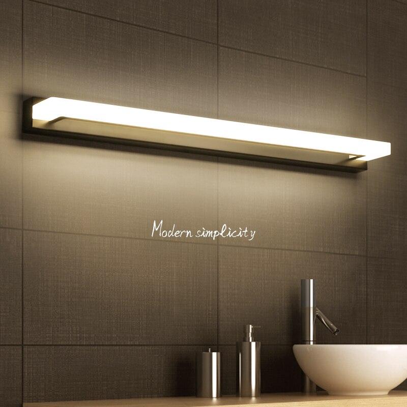 Серебристый/коричневый/белый современный минималистский светодио дный ночники светодио дный настенный светильник для ванной свет зеркало...
