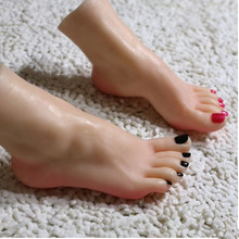 Female Realistic LifelikeExcellent Foot Mannequin Fetishism Worship Prop Shoe Stretcher Display Nail Art Manicure Tool