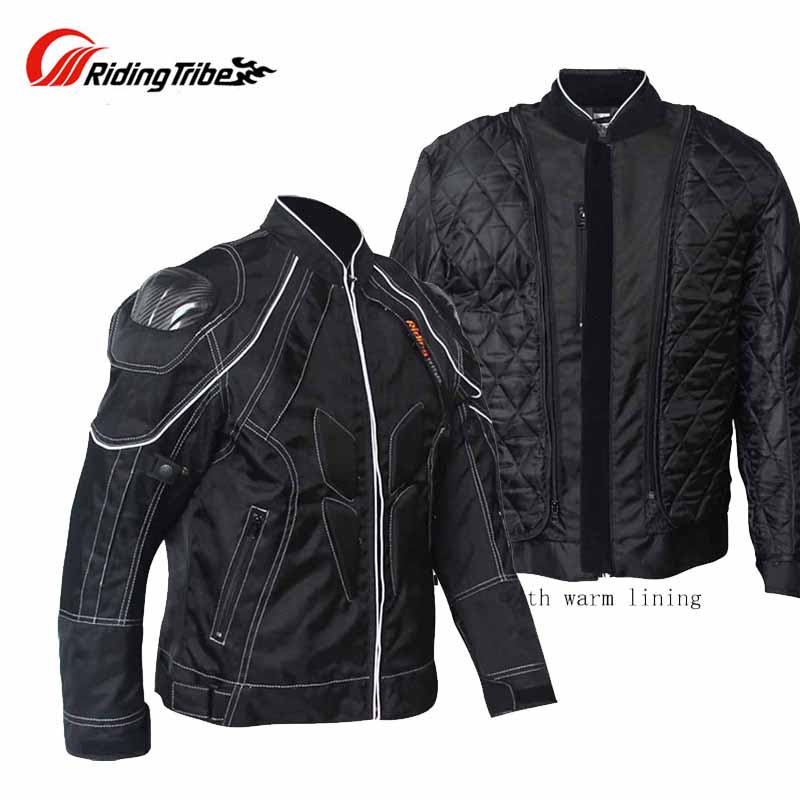 2017 Winter Riding Tribe motorcycle jacket with body armor,Autumn jaqueta / jaquetas Moto carbon fiber shoulder M L XL XXL XXXL winter professional motorcycle jacket with shoulder