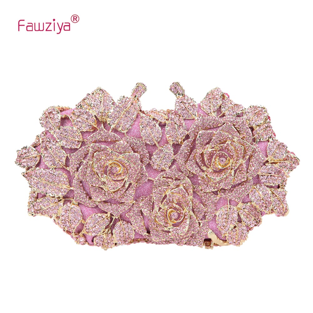 Fawziya Rose Clutch Purse Oversized Floral Handbags For Women Evening Clutches все цены