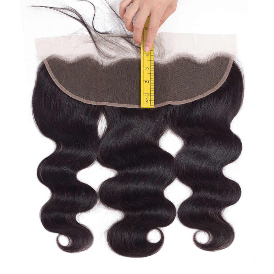 Gabrielle 13x4 Кружева Фронтальная Закрытие 8-22 дюймов бразильские волнистые 100% не Реми человеческие волосы натуральный цвет доставка бесплатная