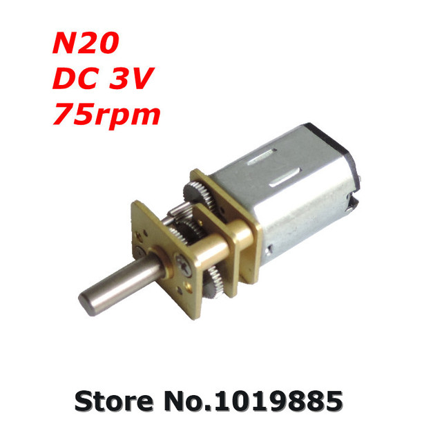 16 шт N20 12 мм 3 V 75 об./мин. Mini микро-карты шлифованный DC мотор-редуктор для своими руками электрическая автомобиль с металл мотор-редукторы коробка