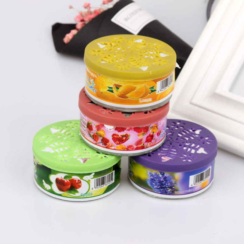 70g Scent Air Freshener Car Auto Decor Fruit Flower Indoor Home Bathroom Solid Ornament Decor Fragrance Diffuser 9449