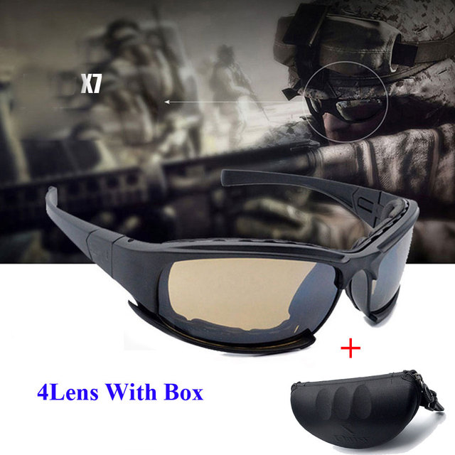 DeckYard X7 Óculos Óculos De Sol Dos Homens Óculos de Sol Militares Do  Exército Masculino 4 f99ab38bd6