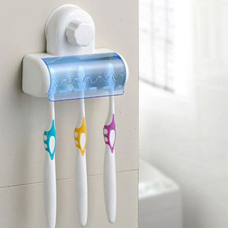 New Five Magic Wall Suction Toothbrush Holder Sucker toothbrush holder  bathroom accessories bathroom set kit banheiro. Popular Bathroom Kit Sets Buy Cheap Bathroom Kit Sets lots from