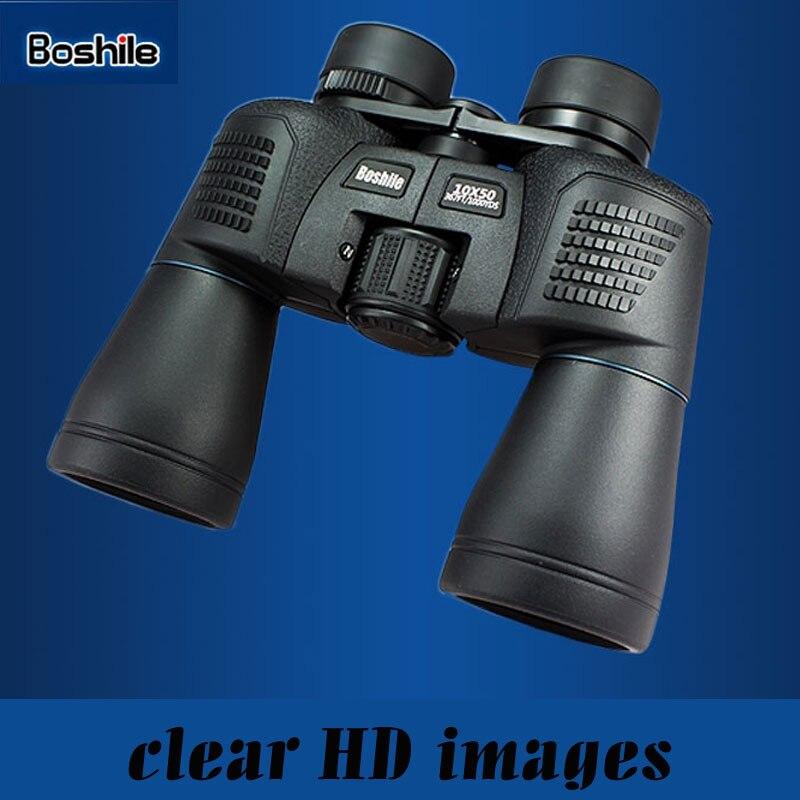 High quality Powerful Binoculars boshile 10x50 Camping Telescope Waterproof Binoculars bak4 FMC Coating Lens Military Hunting