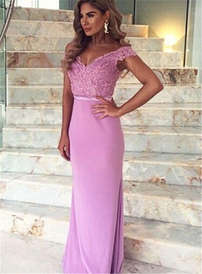 Bonito Vestido De Fiesta Púrpura Largo Motivo - Colección de ...