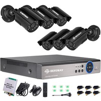 DEFEWAY Home Security Video Surveillance Kit 8CH CCTV System 1200 TVL 720P HDMI AHD CCTV DVR With Rechargeable Battery 2017 New