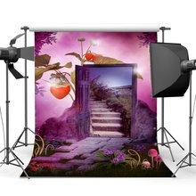 צילום רקע חלומי עולם אגדה פורח פרחי דשא שדה Bokeh תות קסם דלת רקע