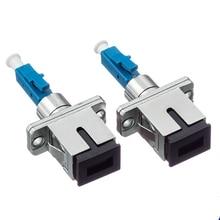 5pcs Free shipping LC/UPC Male to ST/UPC Female Fiber Optic Adapter LC-SC Hybrid Optical Adaptor